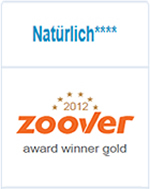Zoover Award Gold 2012