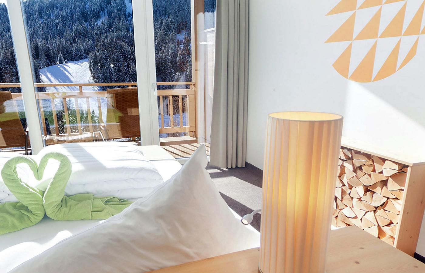 Hotel Panoramabett im Natürlich. Hotel mit Charakter in Fiss, Tirol.