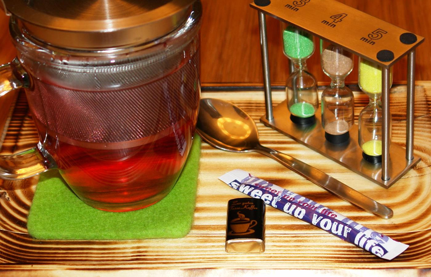 Offene Bio-Tees im Hotel Natürlich in Fiss - Familienzimmer in Tirol.