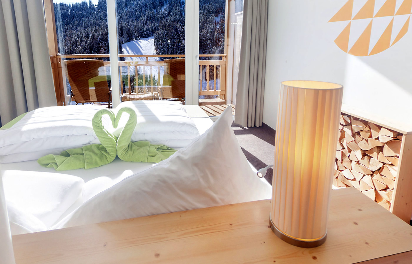 Aussichten Juniorsuiten im Hotel Natürlich in Fiss, Tirol.