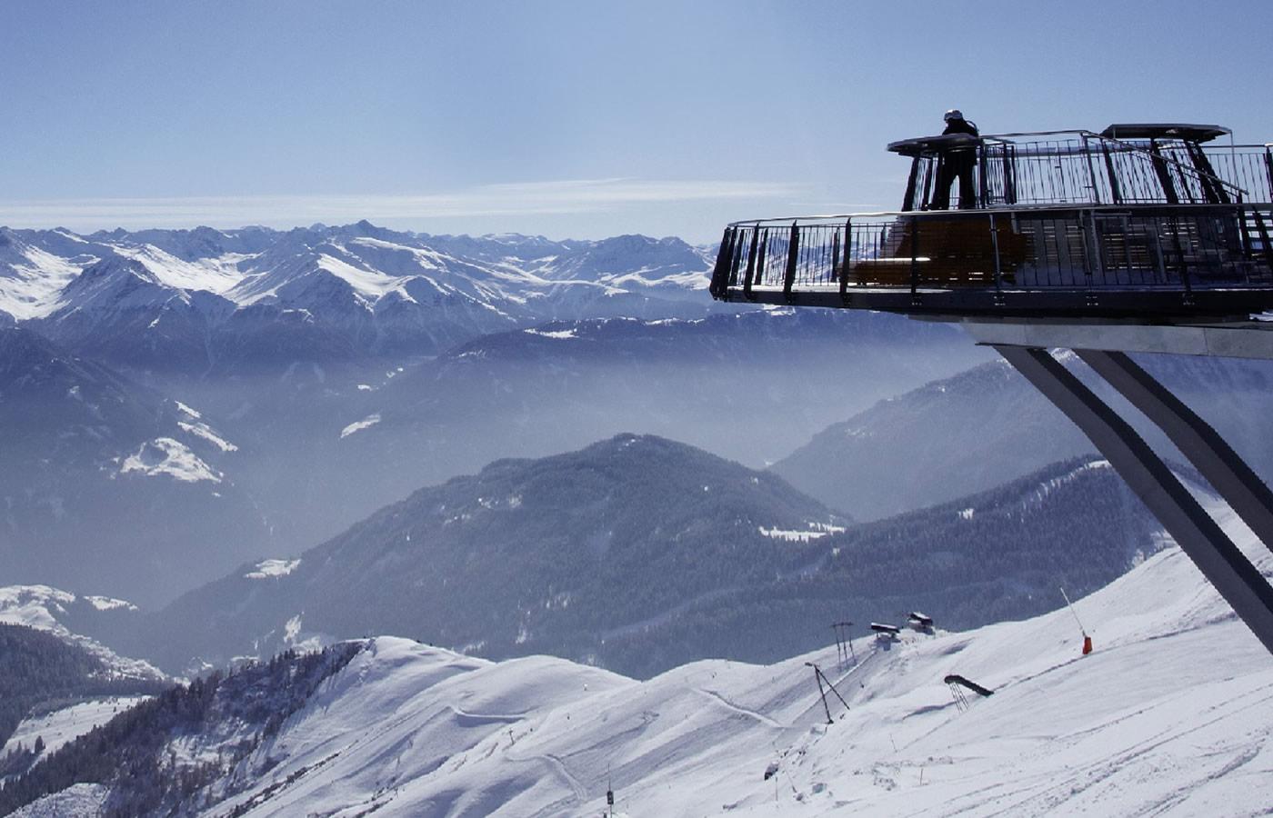 Aussichtsplattform Z1 auf fast 2600m. Fiss - Tirol.